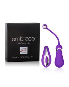 Embrace USB Rechargeable Lover's Remote Control Egg - Purple