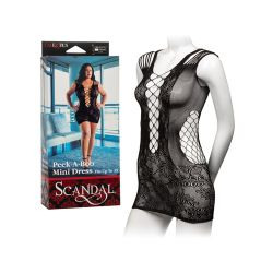 Scandal Plus Size Peek-A-Boo Mini Dress