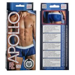 Apollo - Mesh Boxer with C-Ring - Blue - L/XL