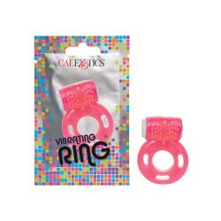 Foil Pack Vibrating Ring - Pink