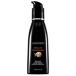 Wicked Aqua Cinnamon Bun Flavored Lube 4 oz