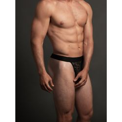 Luca Lace Thong - Black S/M