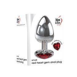 Small Heart Red Gem Anal Plug