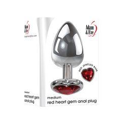 Medium Heart Red Gem Anal Plug