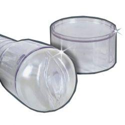 Fantasy Torpedo Ice Clear Masturbator - Vagina (Clear Case)