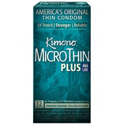 Kimono Micro Thin Condoms - 12 pk (Ultra Lubricated with Aqua Lube)