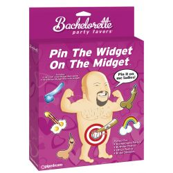 Bachelorette Party Favors - Pin The Widget On The Midget Game