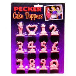 Pecker Cake Toppers (12 pcs)