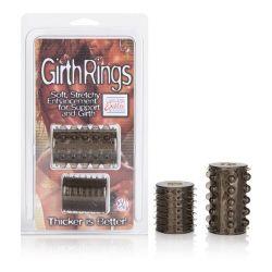 Girth Rings - Non-Vibrating Penis Sleeves - 2 Pack - Smoke