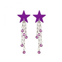 Body Charms - Non-Piercing Body Jewelry - Purple Star