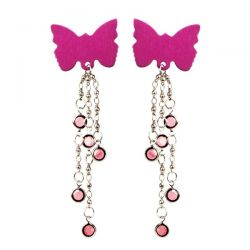 Body Charms - Non-Piercing Body Jewelry - Pink Butterfly