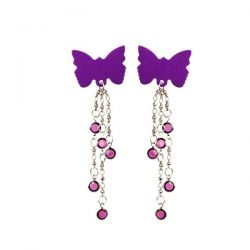 Body Charms - Non-Piercing Body Jewelry - Purple Butterfly