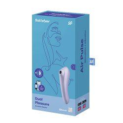 Satisfyer Dual Pleasure Air Pluse Vibrator + Free App Mauve