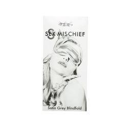 Sex & Mischief - Satin Blindfold - Grey