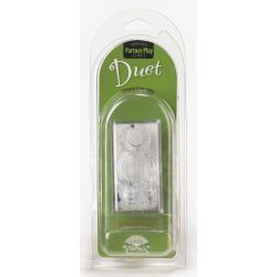 Duet Double Vibrating Cock Ring - Clear (VDUE)